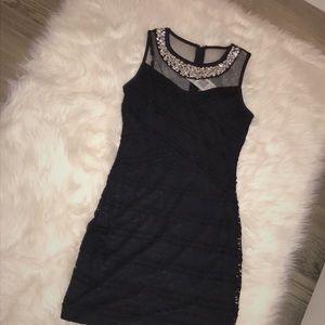 Never worn formal lace dress rhinestone neckline